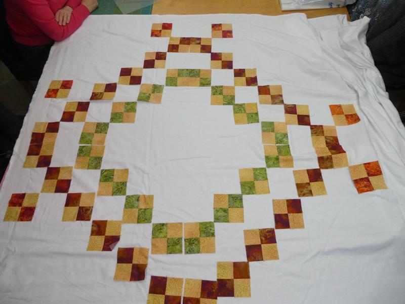 Eerste begin van de sampler op de naaimachine laura 39 s for Quilt maken met naaimachine