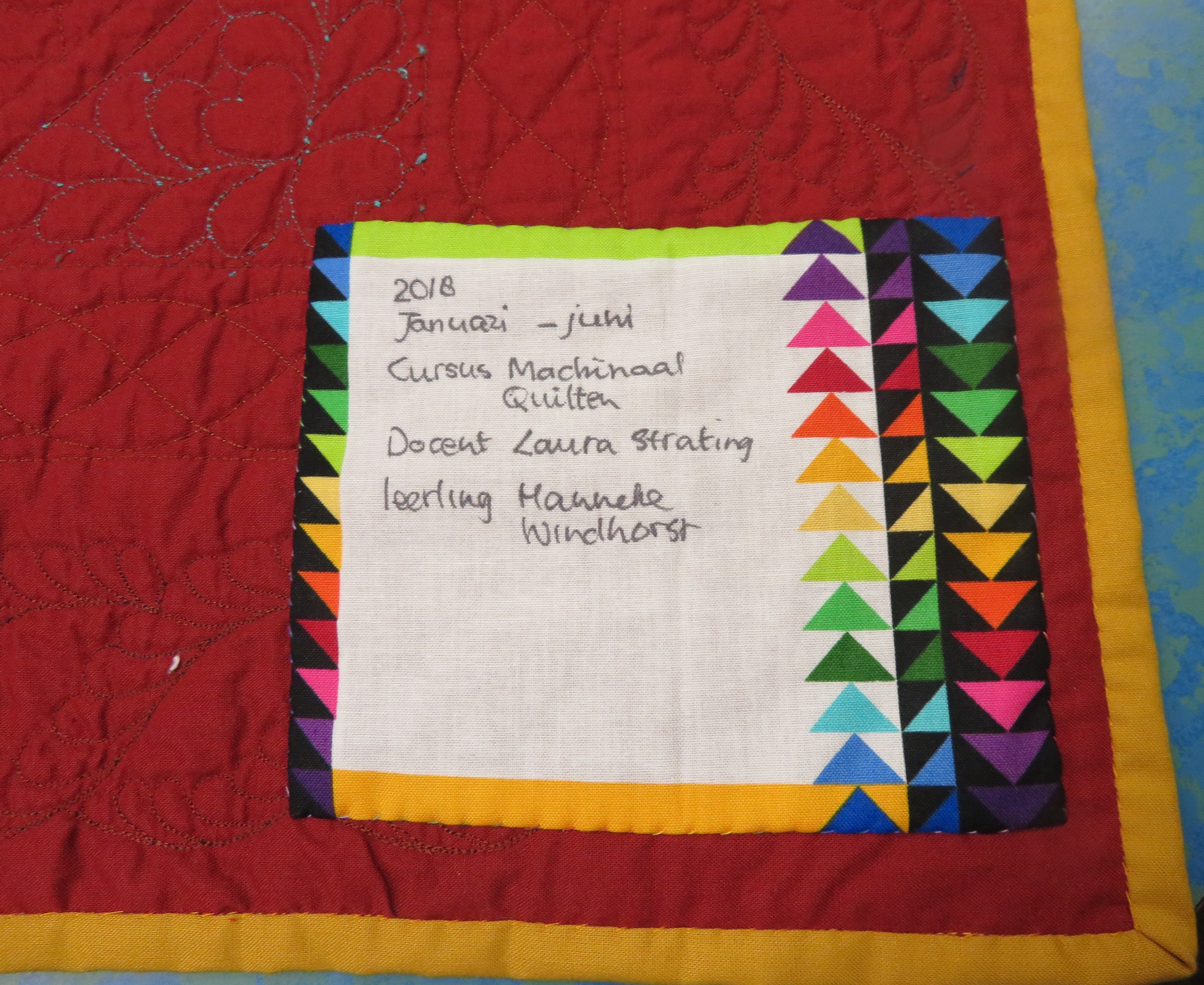 Afwerken Van Een Quilt.Laatste Machine Quiltles Laura S Quilt Atelier